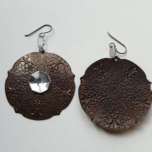 GASOLINE GLAMOUR Jewelry - GYPSY QUEEN MEDALLION MOONDUST EARRINGS NEW